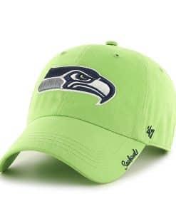 Seattle Seahawks Miata Clean Up Lime 47 Brand Womens Hat