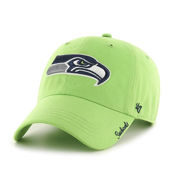 seattle seahawks miata clean up lime 47 brand womens hat