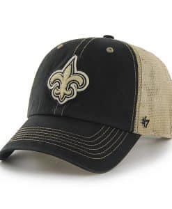 New Orleans Saints Montana Black 47 Brand Adjustable Hat