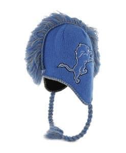 Detroit Lions Mohican Blue Raz 47 Brand Adjustable Hat