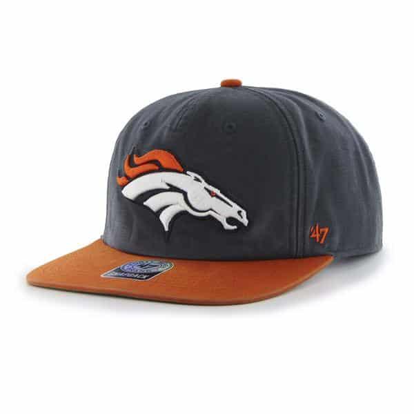 40c503841 Denver Broncos Marvin Captain Rf Navy 47 Brand Adjustable Hat