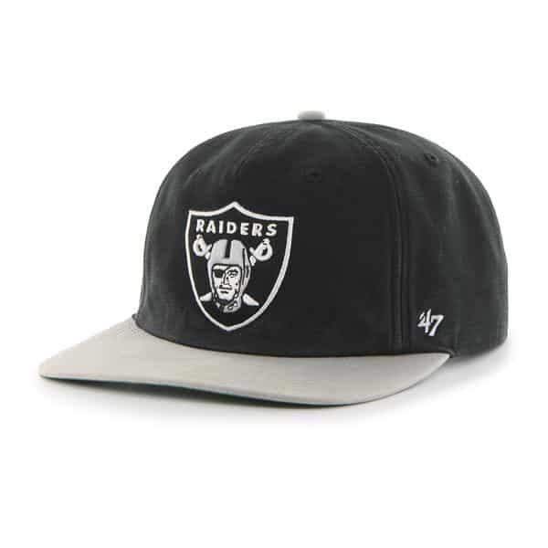 Oakland Raiders Marvin Captain Rf Black 47 Brand Adjustable Hat