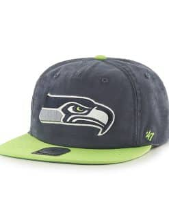 Seattle Seahawks Marvin Captain Rf Navy 47 Brand Adjustable Hat