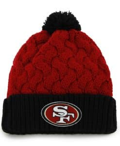 San Francisco 49ers Matterhorn Knit Red 47 Brand Womens Hat