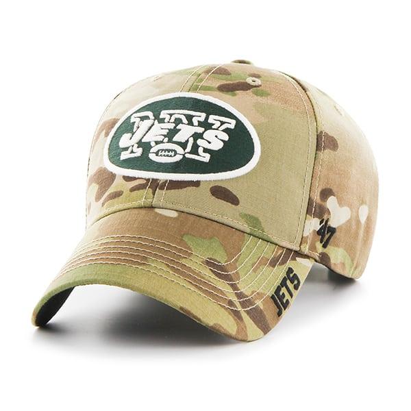 New York Jets Myers MVP Multicam 47 Brand Adjustable Hat
