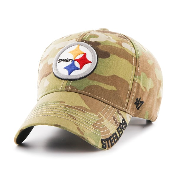 Pittsburgh Steelers Myers MVP Multicam 47 Brand Adjustable Hat