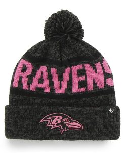 Baltimore Ravens Northmont Cuff Knit Charcoal 47 Brand Womens Hat