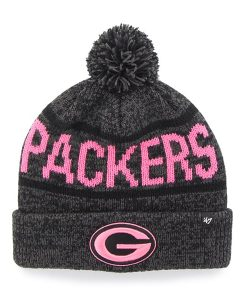 Green Bay Packers Northmont Cuff Knit Pink Charcoal 47 Brand Womens Hat