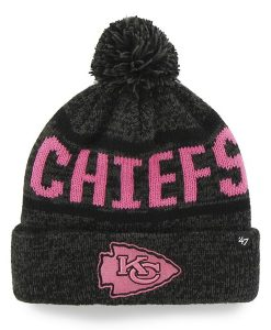 Kansas City Chiefs Northmont Cuff Knit Charcoal 47 Brand Womens Hat