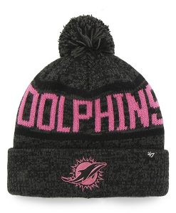 Miami Dolphins Northmont Cuff Knit Charcoal 47 Brand Womens Hat