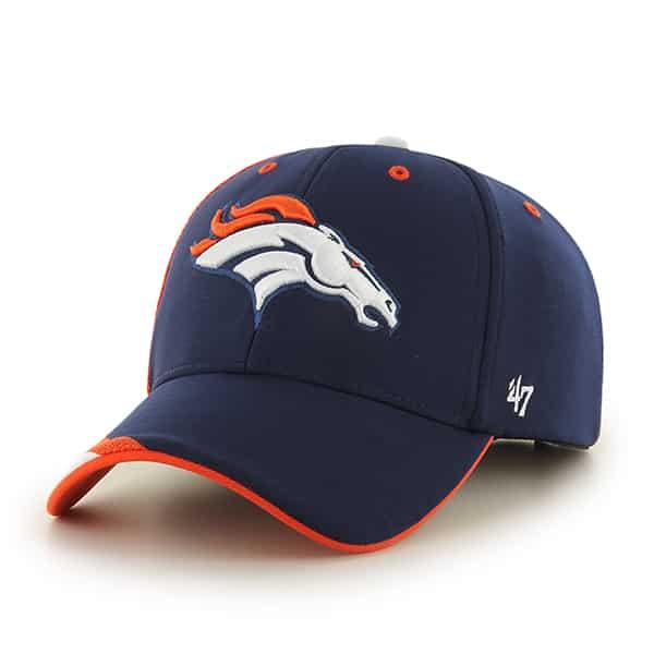 da20d0af7c1786 Denver Broncos Neutral Zone MVP Light Navy 47 Brand Adjustable Hat - Detroit  Game Gear