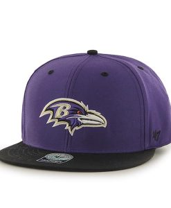Baltimore Ravens Oath Screen Print Prospect Purple 47 Brand YOUTH Hat