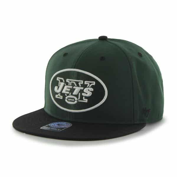 New York Jets Oath Screen Print Prospect Dark Green 47 Brand YOUTH Hat