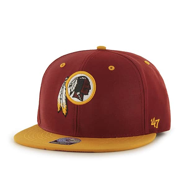 Washington Redskins Oath Screen Print Prospect Razor Red 47 Brand YOUTH Hat