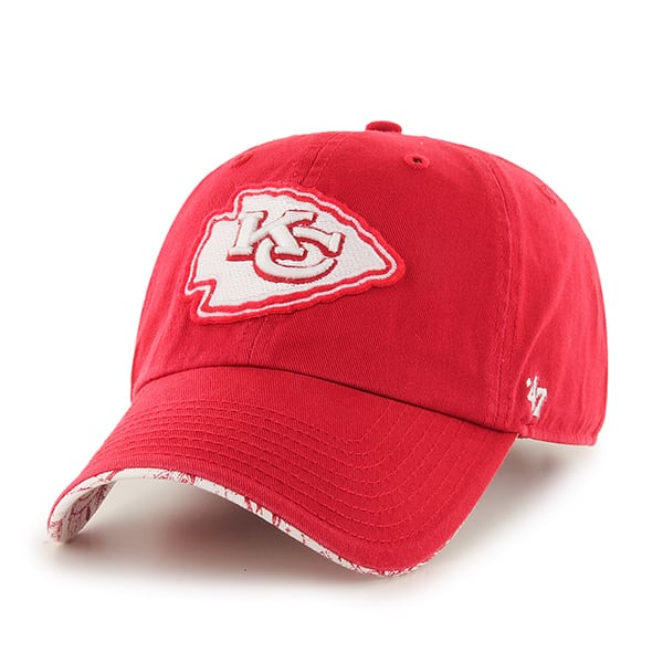 Kansas City Chiefs Olivia Clean Up Red 47 Brand Womens Hat