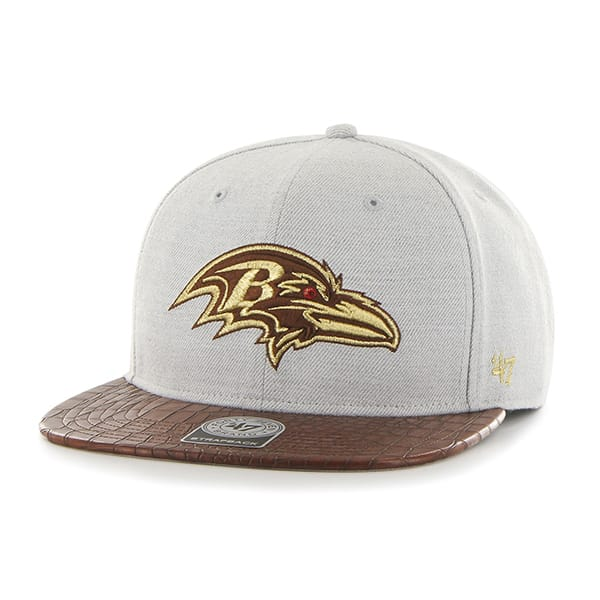 Baltimore Ravens Orinoco Captain Gray 47 Brand Adjustable Hat