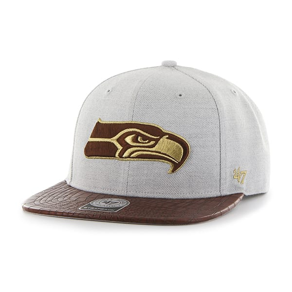 new styles wholesale outlet new style Seattle Seahawks Orinoco Captain Gray 47 Brand Adjustable Hat ...