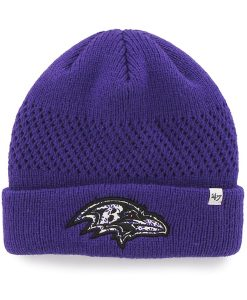 Baltimore Ravens Poppie Cuff Knit Purple 47 Brand Womens Hat