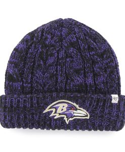 Baltimore Ravens Prima Cuff Knit Black 47 Brand Womens Hat