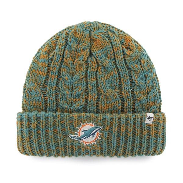 Miami Dolphins Prima Cuff Knit Neptune 47 Brand Womens Hat