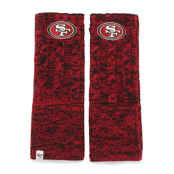 San Francisco 49ers Prima Arm Warmer Red 47 Brand Womens Hat