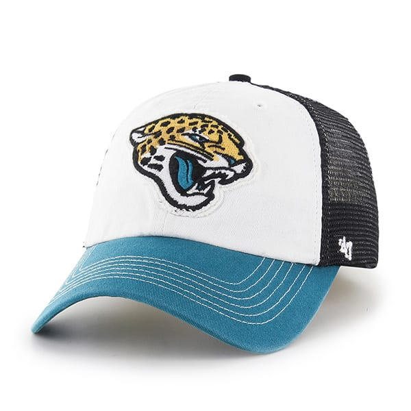 Jacksonville Jaguars Privateer Closer Black 47 Brand Stretch Fit Hat