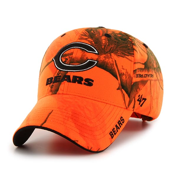 Chicago Bears Realtree Frost Blaze Orange Realtree 47 Brand Adjustable Hat