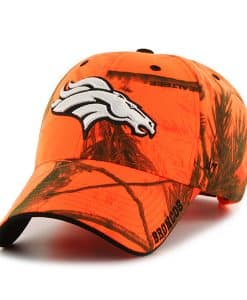 Denver Broncos Realtree Frost Blaze Orange Realtree 47 Brand Adjustable Hat