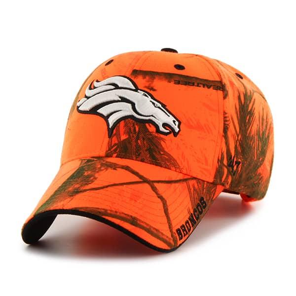 Denver Broncos Realtree Frost Blaze Orange Realtree 47 Brand Adjustable Hat