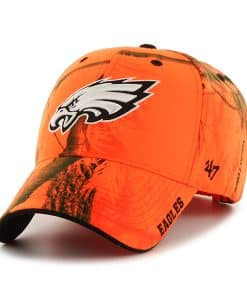 Philadelphia Eagles Realtree Frost Blaze Orange Realtree 47 Brand Adjustable Hat