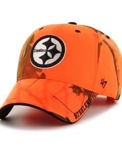 Pittsburgh Steelers Realtree Frost Blaze Orange Realtree 47 Brand Adjustable Hat