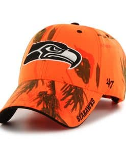 Seattle Seahawks Realtree Frost Blaze Orange Realtree 47 Brand Adjustable Hat