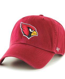 Arizona Cardinals Clean Up Dark Red 47 Brand Adjustable Hat