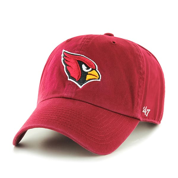 Arizona Cardinals Clean Up Dark Red 47 Brand Adjustable Hat