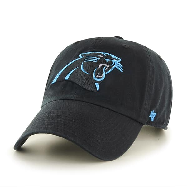 Carolina Panthers Clean Up Black 47 Brand Adjustable Hat