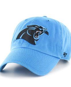 Carolina Panthers Clean Up Glacier Blue 47 Brand Adjustable Hat