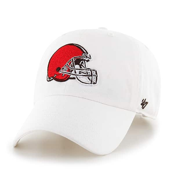 Cleveland Browns Clean Up White 47 Brand Adjustable Hat