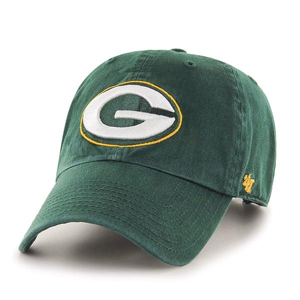 Green Bay Packers Clean Up Dark Green 47 Brand Adjustable Hat