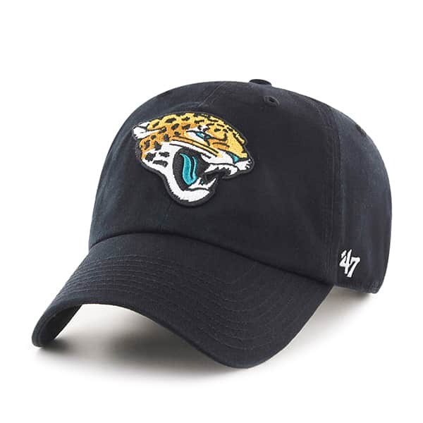 Jacksonville Jaguars Clean Up Black 47 Brand Adjustable Hat