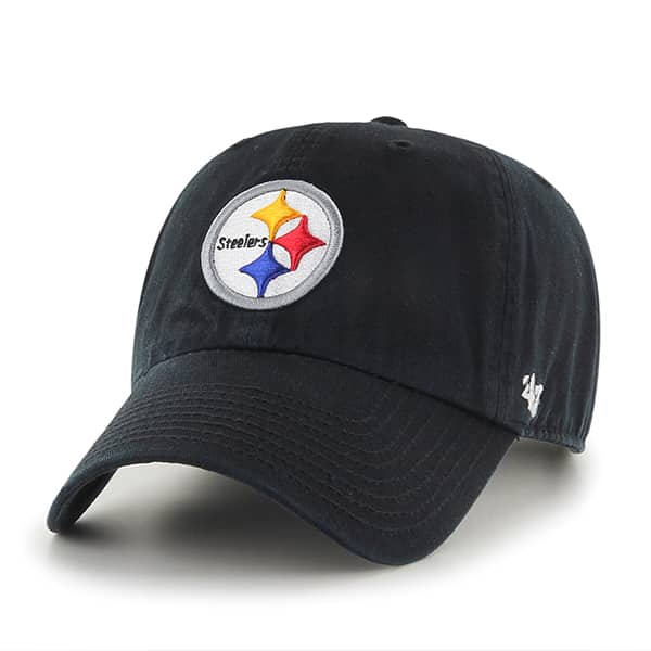 Pittsburgh Steelers Clean Up Black 47 Brand Adjustable Hat
