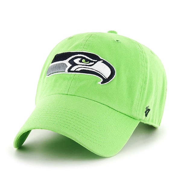 the latest fd7f2 ee03d Seattle Seahawks Clean Up Lime 47 Brand Adjustable Hat - Detroit Game Gear