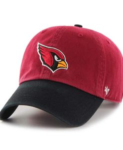 Arizona Cardinals Clean Up Two-Tone Dark Red 47 Brand Adjustable Hat