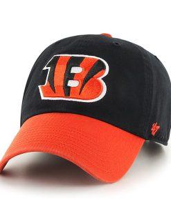 Cincinnati Bengals Clean Up Two-Tone Black 47 Brand Adjustable Hat