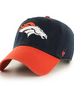 Denver Broncos Clean Up Two-Tone Navy 47 Brand Adjustable Hat