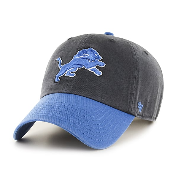 Detroit Lions Clean Up Two-Tone Charcoal 47 Brand Adjustable Hat