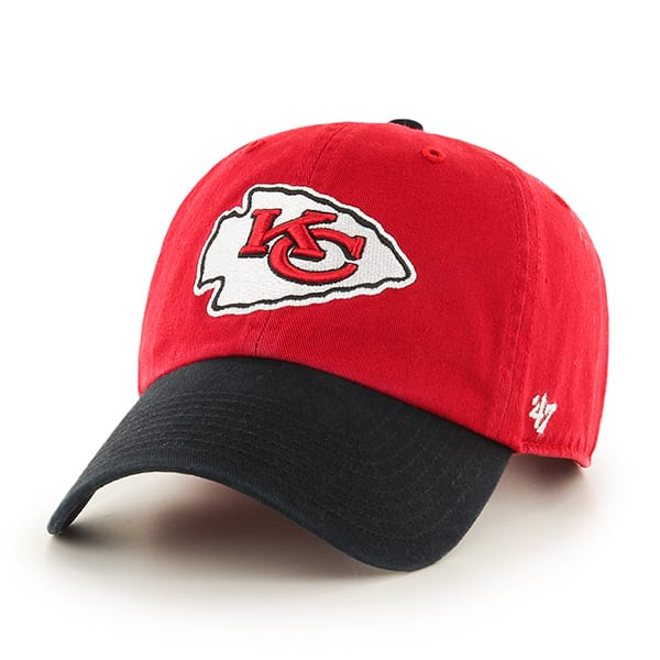 Kansas City Chiefs Clean Up Two-Tone Red 47 Brand Adjustable Hat