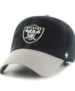 Oakland Raiders Clean Up Two-Tone Black 47 Brand Adjustable Hat