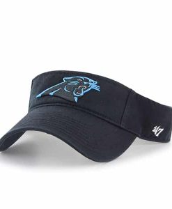 Carolina Panthers Visor Black 47 Brand Adjustable Hat