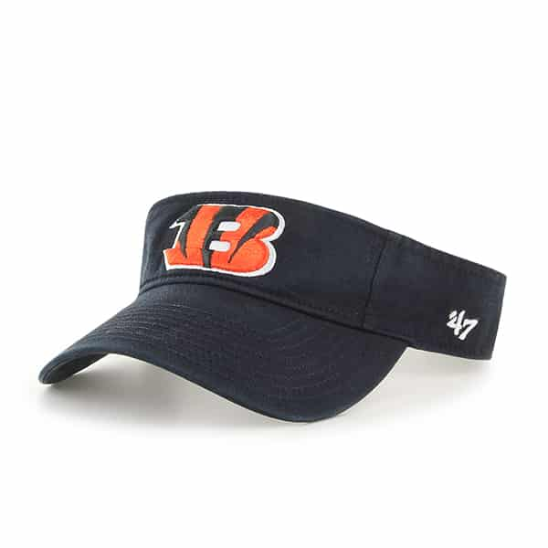 Cincinnati Bengals Clean Up Visor Black 47 Brand Adjustable Hat