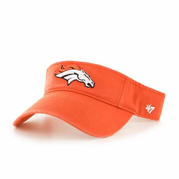 5284fe7777aedf Denver Broncos Clean Up Visor Orange 47 Brand Adjustable Hat - Detroit Game  Gear